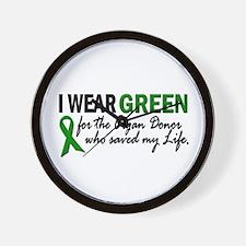 I Wear Green 2 (Saved My Life) Wall Clock