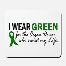 I Wear Green 2 (Saved My Life) Mousepad