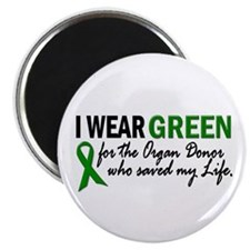 I Wear Green 2 (Saved My Life) Magnet