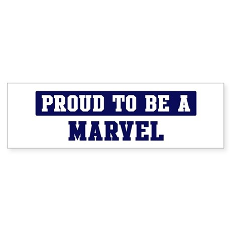 Proud to be Marvel Bumper Sticker