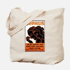 Vintage Syphilis Poster Tote Bag