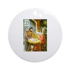 nativity Ornament (Round)