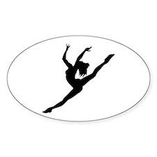 Ballerina Oval Decal