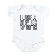 I Wear Grey For My Sister 16 Infant Bodysuit
