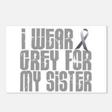 I Wear Grey For My Sister 16 Postcards (Package of