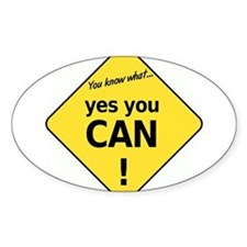 yes you can Oval Decal