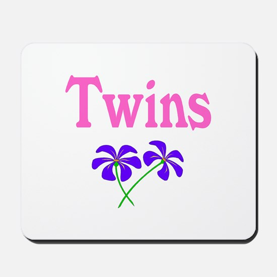 Twins (Pink) Mousepad