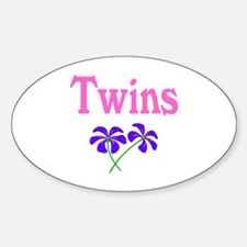 Twins (Pink) Oval Decal