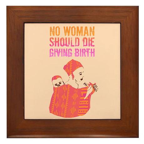 African Mother Framed Tile