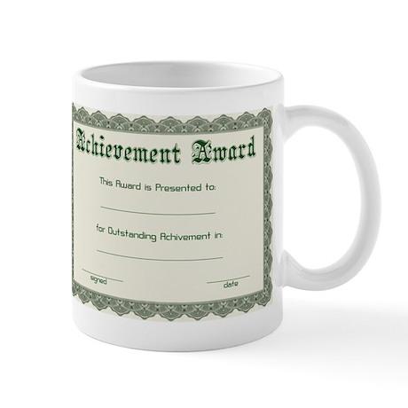 diy certificate Mug