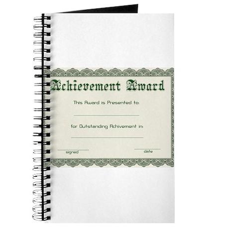 diy certificate Journal