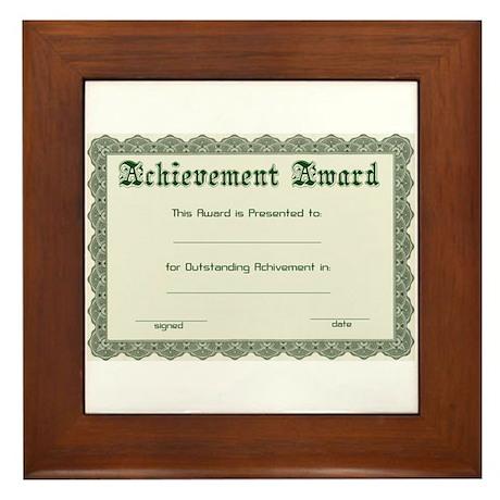 diy certificate Framed Tile