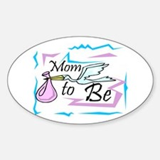 Mom To Be Oval Decal
