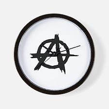 anarchy symbol Wall Clock