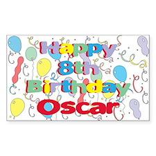 Oscar's 8th Birthday Rectangle Decal