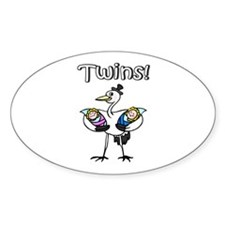 Twins! Oval Decal