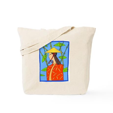 Bamboo/Girl Tote Bag