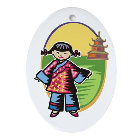 Chinese Girl Keepsake (Oval)