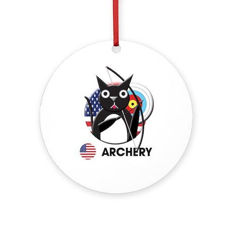 archery Ornament (Round)