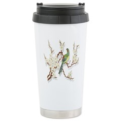 Asian Bird & Blossom Travel Mug