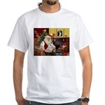 Santa's Maltese White T-Shirt