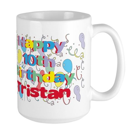 Tristan's 10th Birthday Large Mug