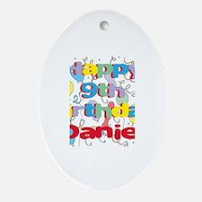 Daniel's 9th Birthday Oval Ornament
