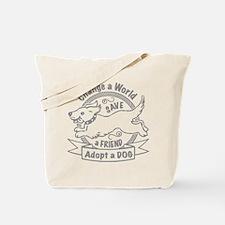 Adopt A Dog Design Tote Bag