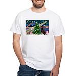 Xmas Magic & Choc Lab White T-Shirt