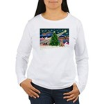 XmasMagic/Lakeland Ter Women's Long Sleeve T-Shirt