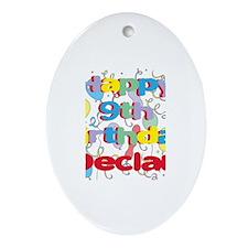 Declan's 9th Birthday Oval Ornament