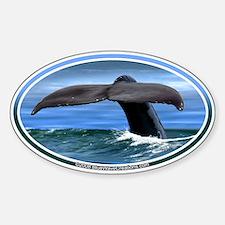 Whale Fluke / Tail car boat Seadoo Oval Decal