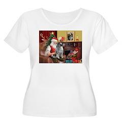 Santa/Keeshond T-Shirt
