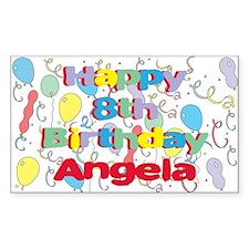 Angela's 8th Birthday Rectangle Decal