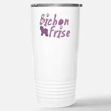 Baby Pink Bichon Frise Stainless Steel Travel Mug