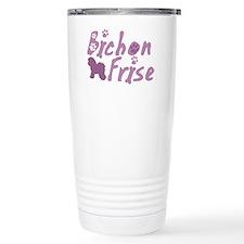 Baby Pink Bichon Frise Travel Mug