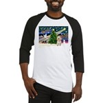 XmasMagic/Havanese pup Baseball Jersey