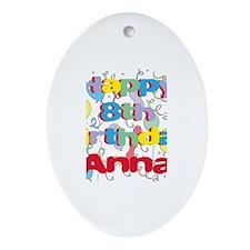 Anna's 8th Birthday Oval Ornament