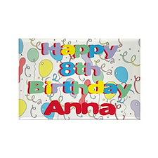 Anna's 8th Birthday Rectangle Magnet