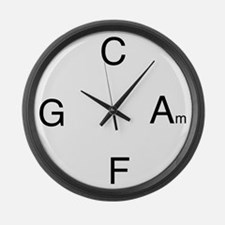 Chord Sequence Large Wall Clock