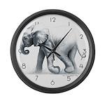 Baby Elephant Large Wall Clock