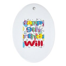 Will's 9th Birthday Oval Ornament