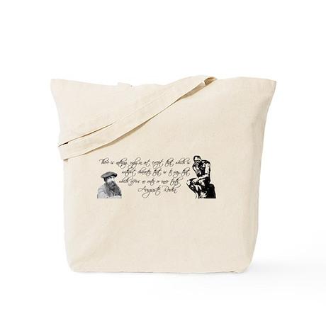 Thinker + Rodin Quote Tote Bag