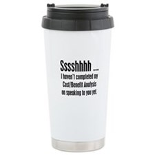 Cost Benefit Analysis Travel Mug