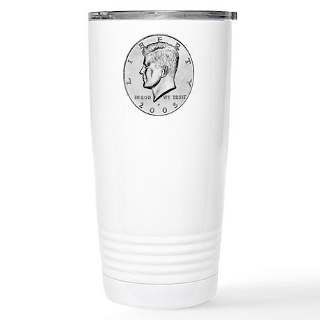 Kennedy Half-Dollar Stainless Steel Travel Mug