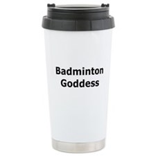 Badminton Goddess Travel Mug
