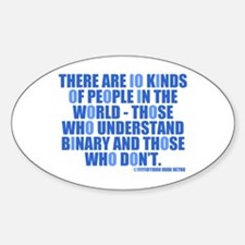 10 Kinds of People Oval Decal