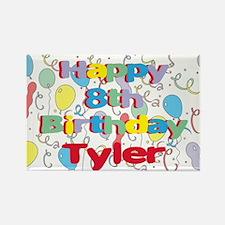 Tyler's 8th Birthday Rectangle Magnet