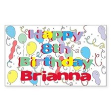 Briana's 8th Birthday Rectangle Decal