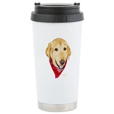 Yellow Lab Red Bandana Travel Mug